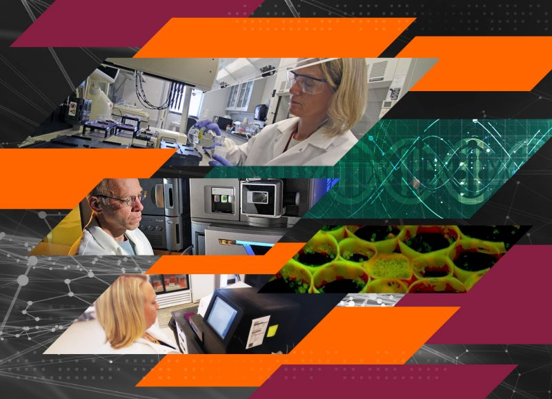 Collage of the Core Services at Fralin Life Sciences Institute at Virginia Tech